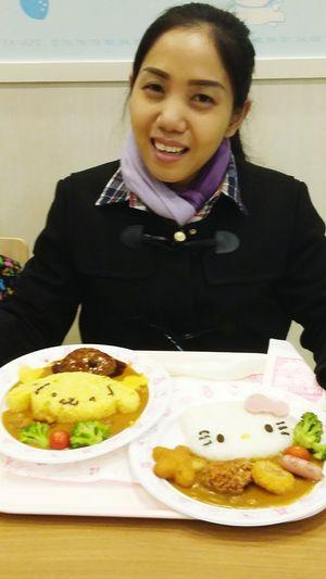 January2016 Japan Sanrio Puroland Japanese Food Curryrice Pompompurin Hellokitty