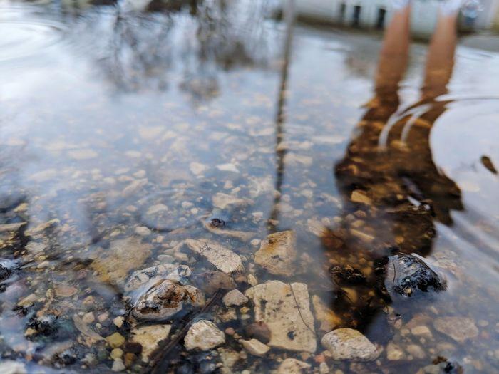 Water Puddle Winter Flood Snow Close-up Oil Spill Pollution Rainy Season RainDrop Wet Rain Drop Rainfall Water Pollution Frozen Lake Environmental Damage Shallow