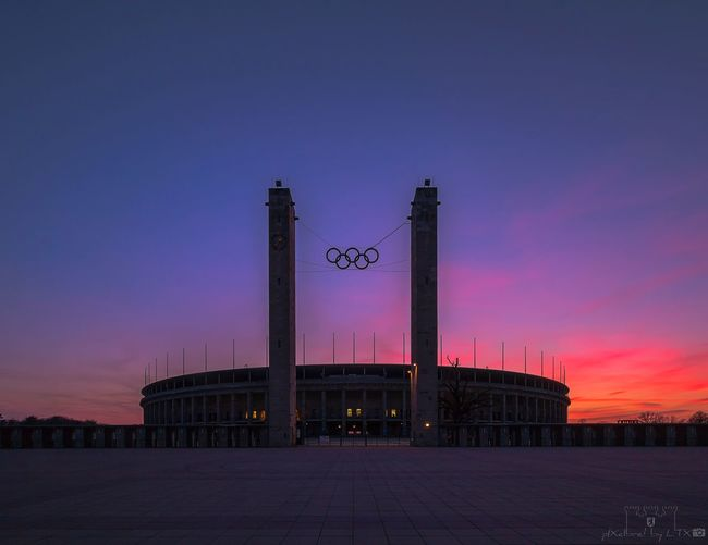 <<CITIUS||ALTIUS||FORTIUS>> Berlin Berliner Ansichten My Fuckin Berlin City Cityscape Architecture Historical Building Sunset Skyporn Clouds And Sky No People Stadium Charlottenburg  Silhouette Olympics