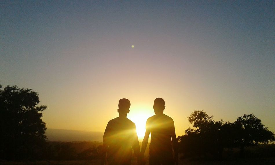 Beautiful Sunset ♡ two Brothers ☆☆ By Me 👆