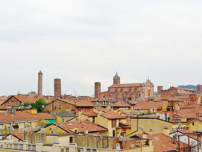 Cityscape of Bologna's red roofs in Italy Europe Europe Trip Cityscape City Rooftop Red Color Medieval Architecture Medieval Cathedral Traditional Travel Destinations Landmark Traveling Rooftop Backgrounds Cityscape City Urban Skyline Business Finance And Industry Sky Architecture Office Building Tower Tall Skyline Bell Tower Downtown Historic Civilization Old Ruin