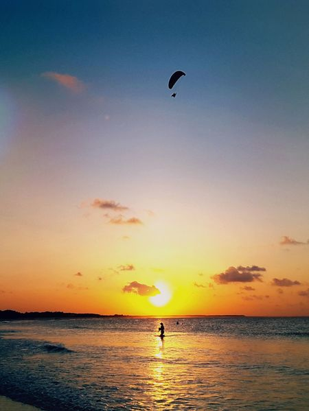 City of Salinópolis, Atalaia Beach, State of Pará, Amazon, Brazil. Sunset Silhouette Sea Beach Sky Water Nature