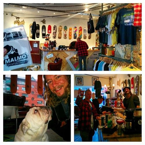 MalmoSkateboards - rad shop, awesome dog, good people.