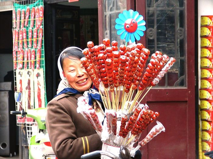 Pingyao China Tanghulu Hawkers