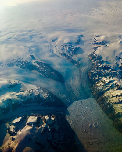 Aerial of greenland