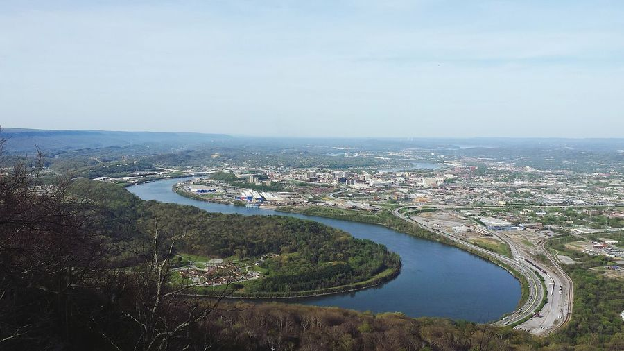 City Cityscape Aerial View Landscape No People Tennessee River Chattanooga.
