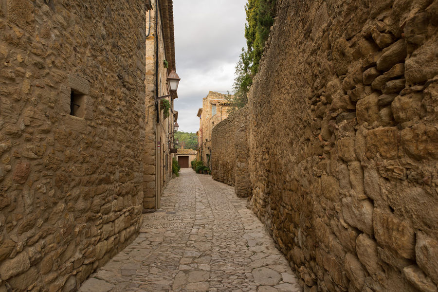 Catalonia Country Rural SPAIN Ancient Ancient Civilization Architecture Building Exterior Built Structure Day Girón History Medieval Nature No People Old Outdoors Peratallada Sky The Way Forward