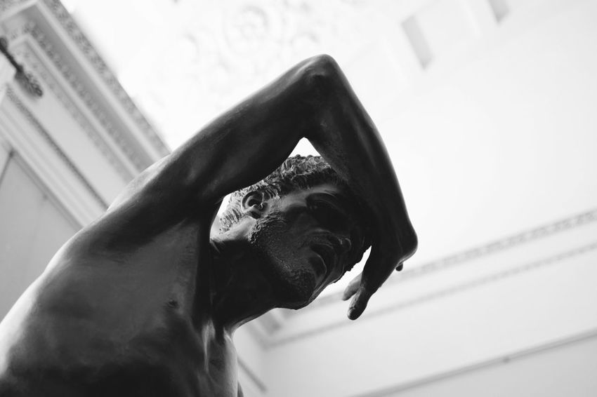 The suffering man. One Person Leisure Activity Real People Close-up Men Day Indoors  Sky Statue Interior Design Italy Florence Palazzo Pitti Still Life Black And White Art TCPM Art Is Everywhere