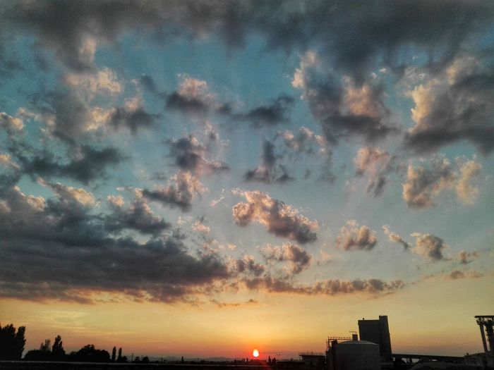 Sunset Cloud - Sky Sky Nature Tranquility Urban Skyline Factory Building First Eyeem Photo