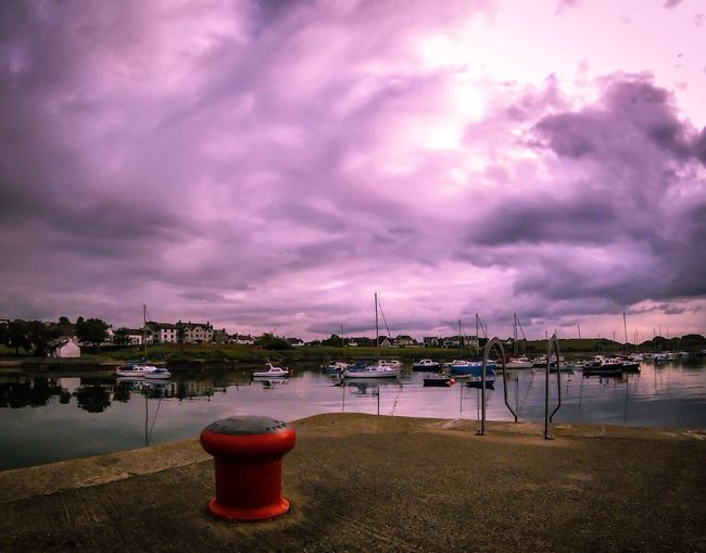 Groomsport Water Sky Cloud - Sky No People Reflection Tranquility Nature Outdoors Lake Nautical Vessel Tranquil Scene Beauty In Nature Sunset Scenics Built Structure Tree Moored Architecture Day