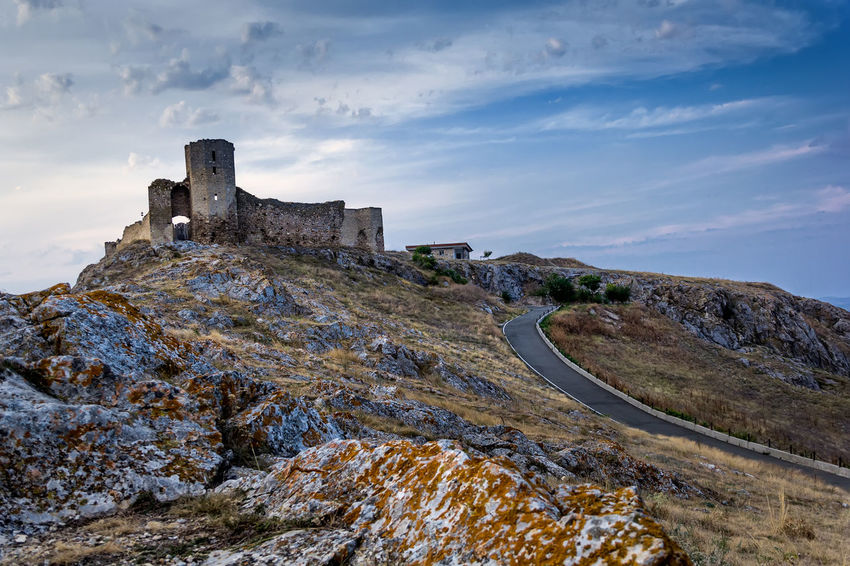 Castle Ancient Civilization Architecture Built Structure Citadel Cloud - Sky Destination Europe Fortress Heritage Hill Historic History Landmark Medieval Mountain Nature Old Ruin Outdoors Rocks Sky Stone Stronghold Tourism Travel Destinations