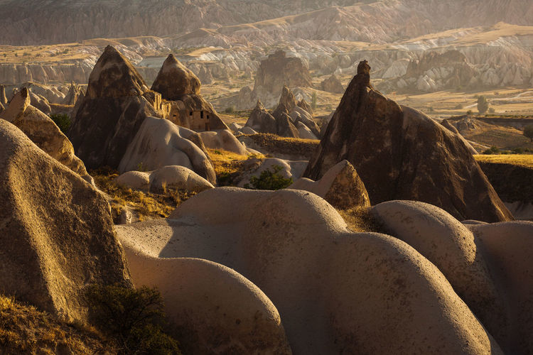 Panoramic view of rock formations on landscape