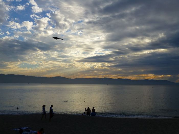 Mexico Puerto Vallarta Sunset Sunset_collection Sunset Silhouettes Silhouettes Silhouette Beautiful Clouds Sky Sky And Clouds