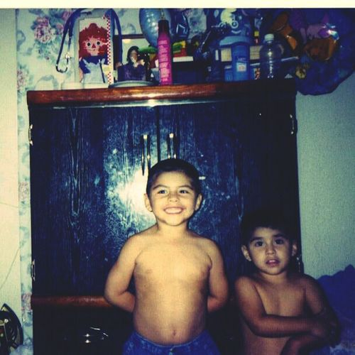 showing off guns the with my bro. #ShowOut #TBT #StillTrill