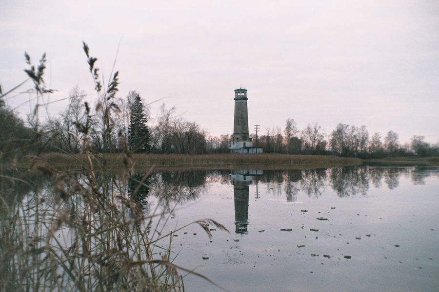 Analogue Photography Colors Film Lighthouse Architecture Color Negative Cozy Day Film Photography Filmcamera Filmphotography Fujifilm Fujifilm C200 Nature Nature_collection Outdoors Reflection Vilia Water