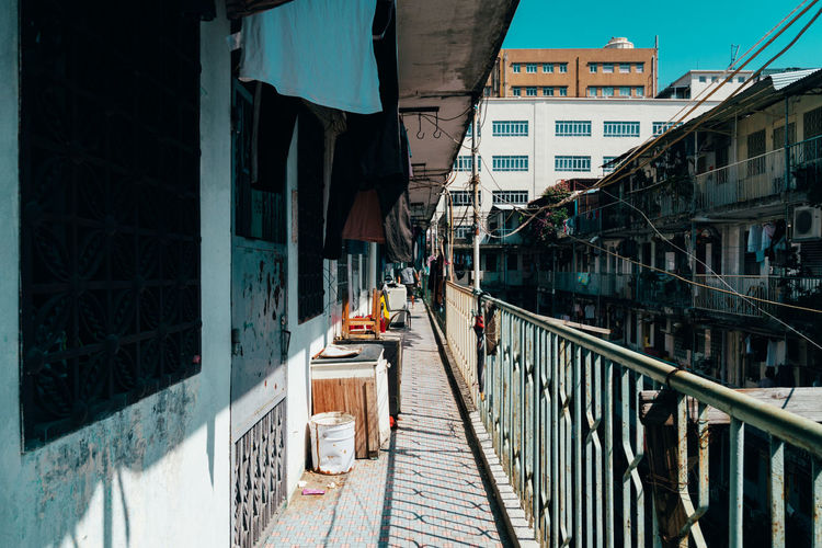 Diminishing Perspective Of Balcony In Residential Building