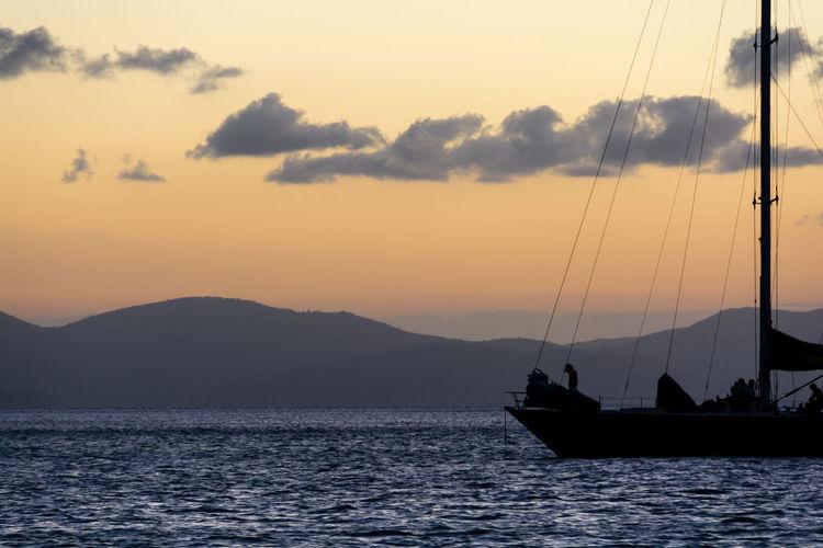 Australia Blue Boat Boats Landscape Landscape_Collection Landscape_photography Landscapes Landscapes With WhiteWall Nature Ocean Orange Sea Silhouette Sunset Sunset Silhouettes Sunset_collection