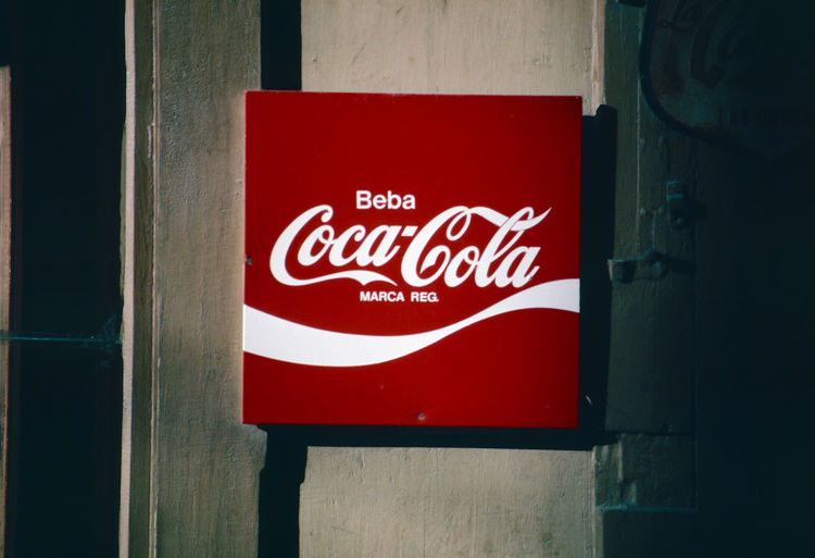 Taken in 1980's just before sunset Coca-Cola ❤ Spanish Language Advertising Board Architecture Close-up Communication Day No People Outdoors Red Text