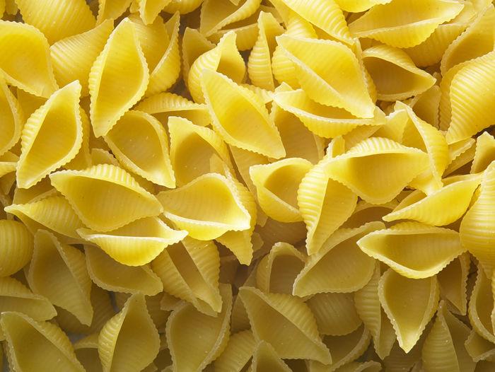 Full frame shot of conchiglie pasta
