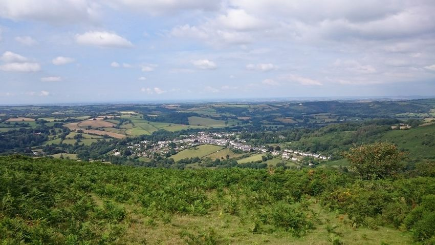 Aerial View Agriculture Green Color No People Outdoors Landscape Grass Mountain Meldon