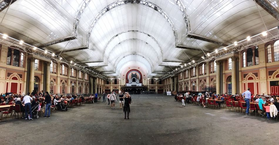 Panorama Alexandra Palace Old Vintage Victorian England Architecture Ceiling Indoors  Built Structure Real People
