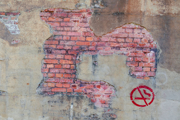 Background brickwork symbol smoking. Beauty In Nature Bric Wall Colonial Cigarette  Housework No Somking Sign Smoking Ban