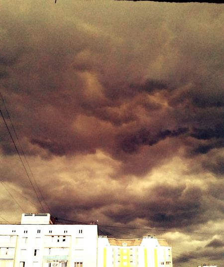 Moscow sky. Storm Nature
