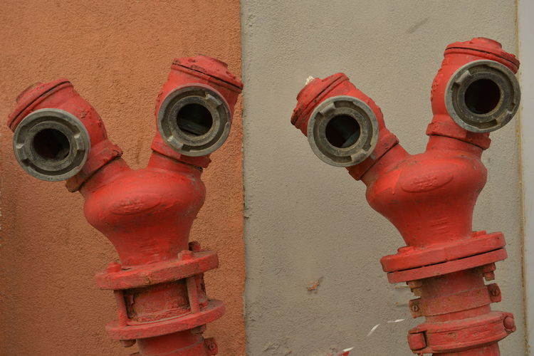Creativity Funny Guys Hydrant Israel New Friends Newfriends Red Zwillinge
