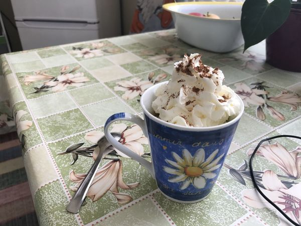 Chill time in the morning at home Coffee Close-up Coffee - Drink Coffee Cup Food Food And Drink Freshness High Angle View Indoors  Kitchen Utensil No People Spoon Still Life Sweet Table Temptation