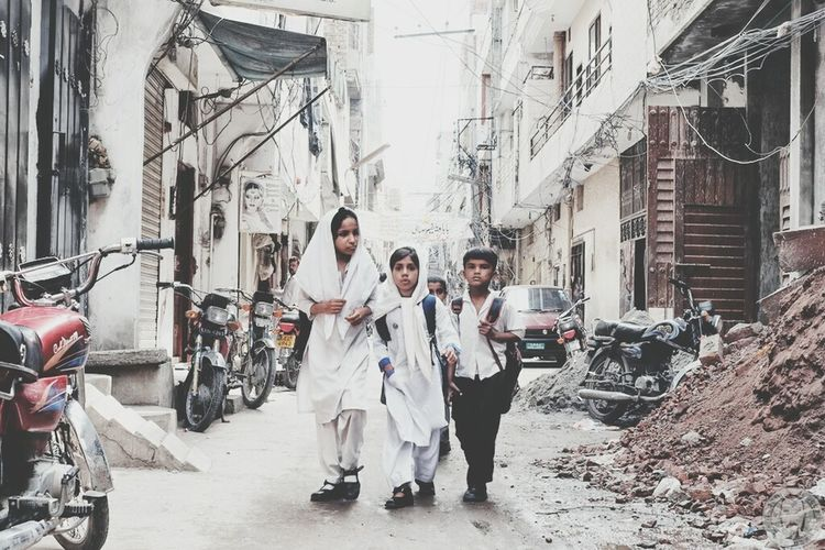 School Uniforms Around The World - Sialkot, Pakistan. Travel Photography Streetphotography Street Photography Fujifilmxphotography Fujifilm_xseries Fujixphotographer Pakistan Sialkot Pakistan Village Life Discover Your City The Street Photographer - 2017 EyeEm Awards