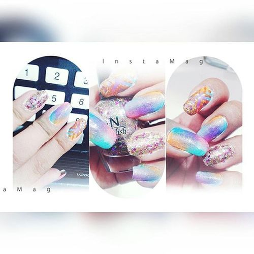 Superfashion Supercool 👌👌 Diferenth Inovation 😍 💅 to day nails Nailsart Nailstagram