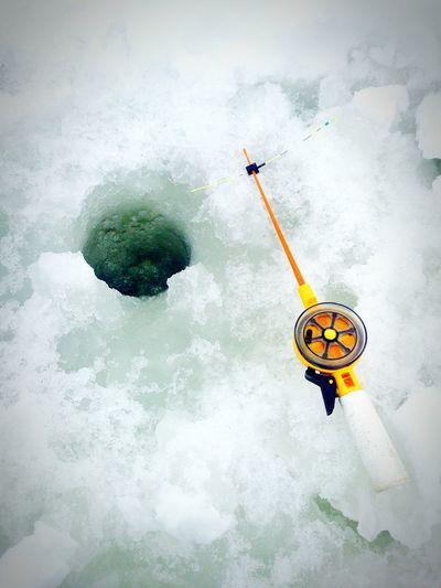 Relaxing Ice Fishing Beautiful Day