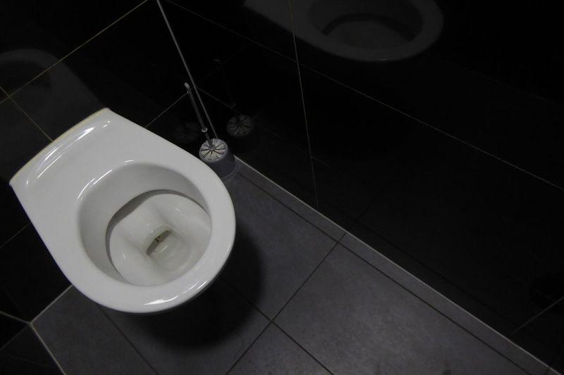 Toilet. WC. Rest Room Black & White