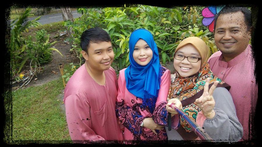 Day 1 raya with family at Kampungberanang