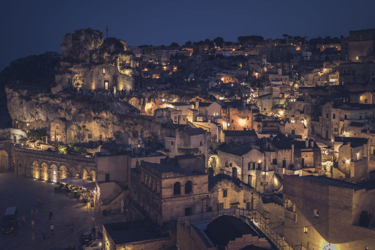 Ancient unesco heritage old town of matera in southern italy.prehistoric dwellings 2019 the european