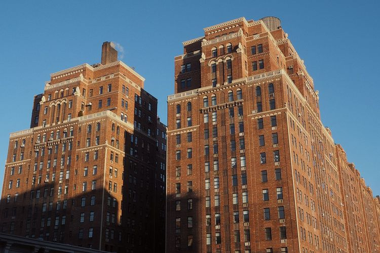 NYC NYC Photography NYC Street Architecture Brick Building Exterior Built Structure City Clear Sky Day Insdustrial Low Angle View No People Outdoors Sky Skyscraper Travel Destinations Window