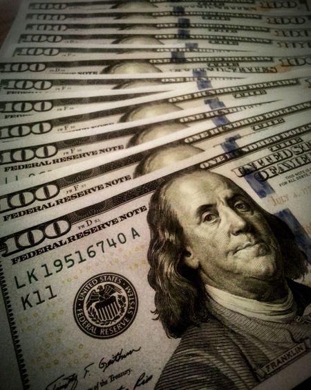 Pattern Pieces Cashmoney  Tax Return $100 One Hundred Dollars Success Withdrawing Cash Benjamin Franklin Rich Money USD Taking Photos