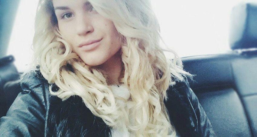 Girl Christmastime NewYear Winter Car Blonde Belarus Polotsk