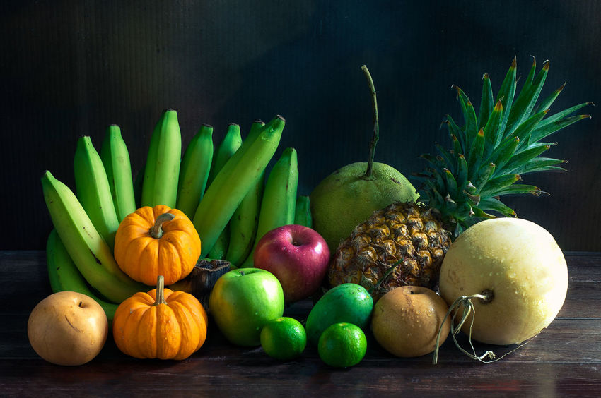 Mix Fruit Pumpkins Apple - Fruit Banana Choice Citrus Fruit Food Food And Drink Freshness Fruit Green Color Healthy Eating Large Group Of Objects Mix Fruits Multi Colored Orange Pineapple Vegetable