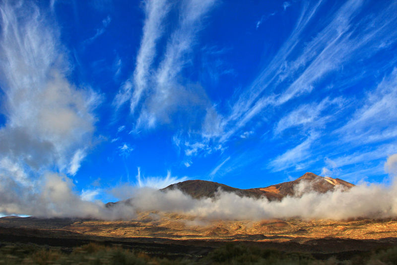 Beauty In Nature Blue Blue Sky Canadas Del Teide Cloud - Sky Day Erupting Geology Heat - Temperature Hot Spring Landscape Mountain Nature No People Outdoors Physical Geography Scenics Sky Smoke - Physical Structure Steam Teide Teide National Park Tenerife Tranquility Volcanic Landscape