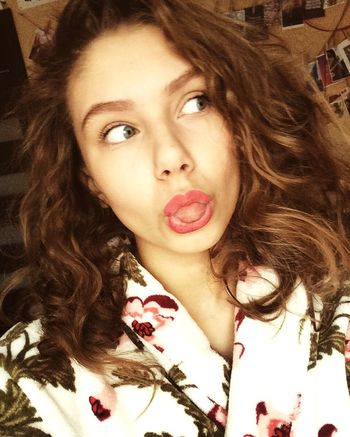 😛😛🙁 Real People One Person Curly Hair Beauty