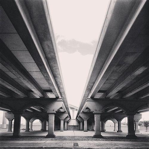 Laredo Blackandwhite Bridge