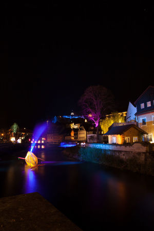 Kronach leuchtet Kronach Leuchtet Architecture Building Building Exterior Built Structure City Illuminated Kronach Lighting Equipment Mode Of Transportation Nature Night Nightlife No People Outdoors Reflection River Sky Transportation Tree Water Waterfront