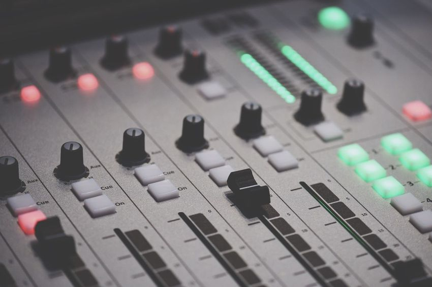 TakeoverMusic Sound Mixer Sound Recording Equipment Music Control Mixing Recording Studio Audio Equipment Knob Arts Culture And Entertainment Technology Control Panel Close-up Stereo Audio Electronics The Media Radio Station No People Bandwidth Broadcasting Studio