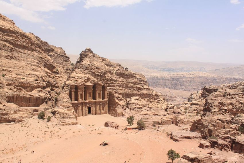 Ancient Ancient History Archaeology El Deir Jordan Kings Highway Monastery Petra Petra Jordan Raqmu UNESCO World Heritage Site Ancient City Ancient Civilization Ancient Monument Ancient Ruins Archaeological Archaeological Sites Architecture Built Structure Desert Nabatean Nature Outdoors Rose City Sky