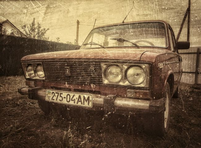 Retro Car Luhans'k, My Car Old Car LADA Colour Of Life Russian Cars Hello World Nice Memories