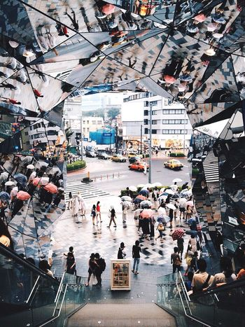 Geometric Shapes Tokyo Omotesando Mirror People Urban Streetphotography Symmetrical City Street