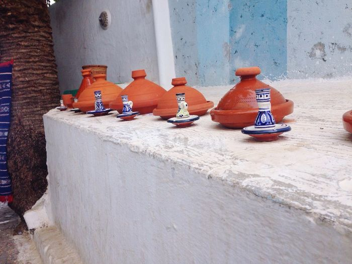 Beautifully Organized Morrocan City Life Tajin Cuisine Art Cultural Heritage Oldcity Oudaya