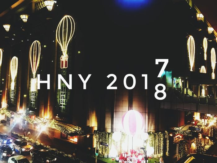 HNY2017 Night Illuminated Architecture Building Exterior Built Structure No People Outdoors