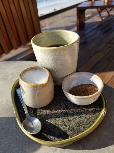 Ceramic Mexico Hotel Colors Tulum Drink Bowl Close-up Food And Drink Black Coffee Hot Drink Beverage